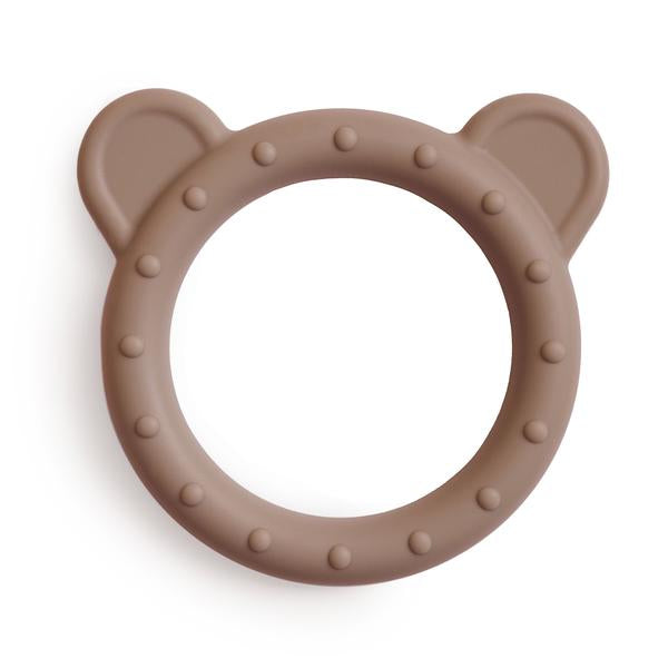 Mushie Silicone Bear Teether, Natural