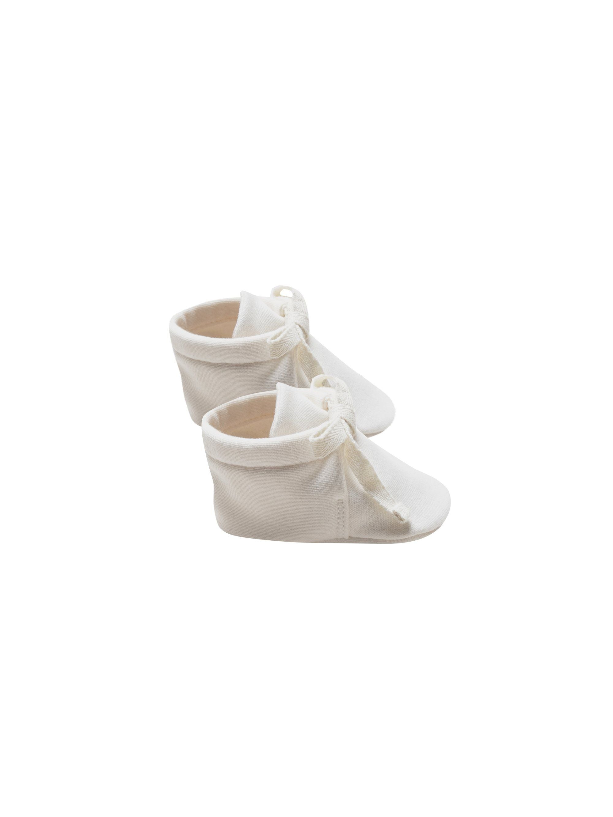 Quincy Mae Organic Baby Booties, Ivory