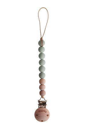 Mushie CLEO Pacifier Clip, Sage
