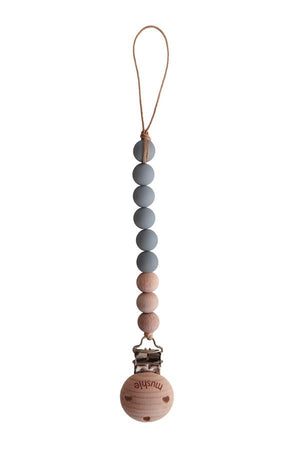 Mushie CLEO Pacifier Clip, Stone