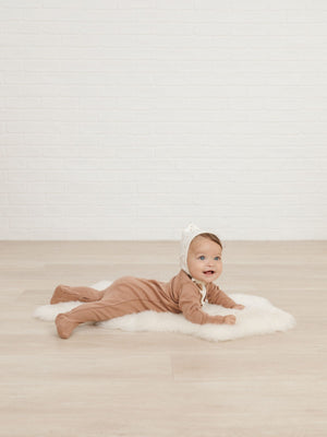 Quincy Mae Organic Full Snap Footie, Clay