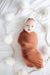 Mebie Baby Rust Stretch Swaddle