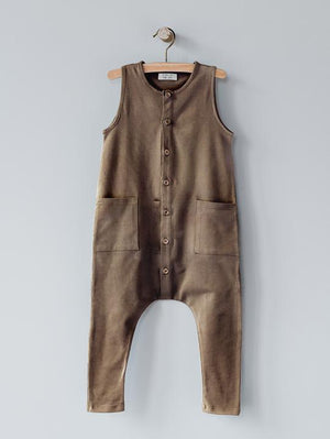The Simple Folk Free-Range Playsuit, Walnut