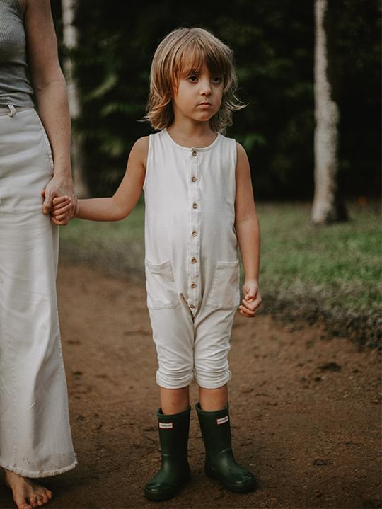The Simple Folk Free-Range Playsuit, Undyed