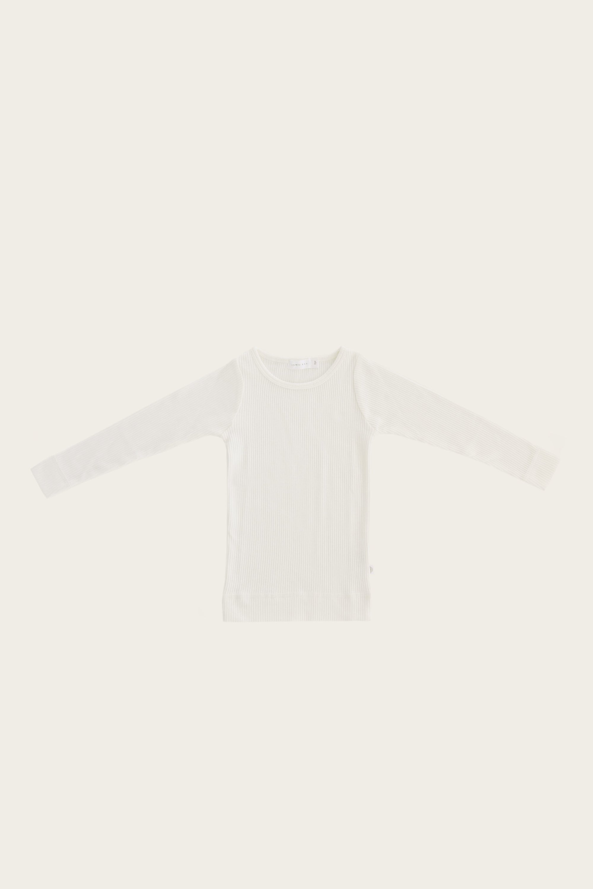 Jamie Kay Organic Essential Long Sleeve Top, Milk