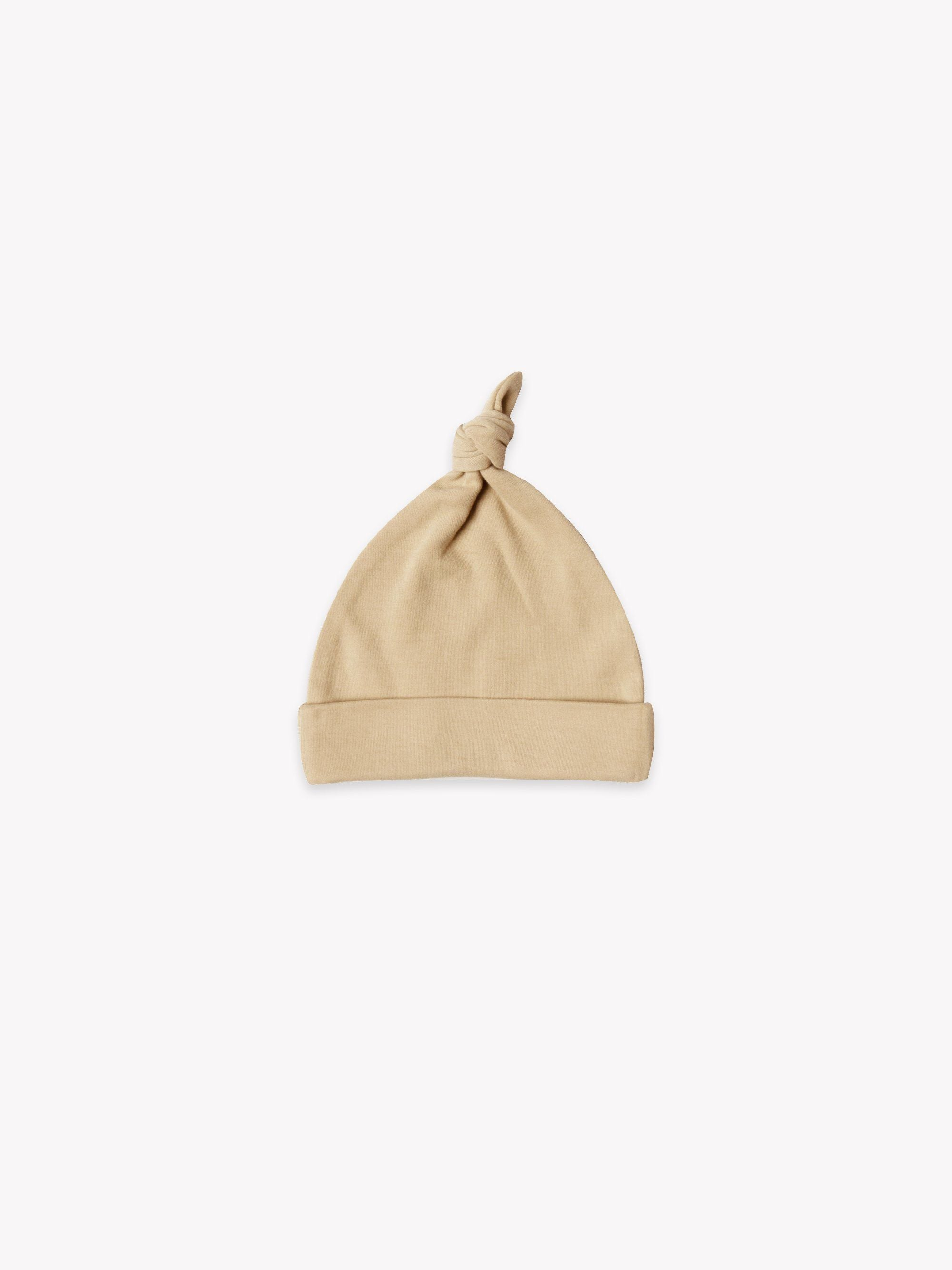 Quincy Mae Organic Knotted Baby Hat, Honey