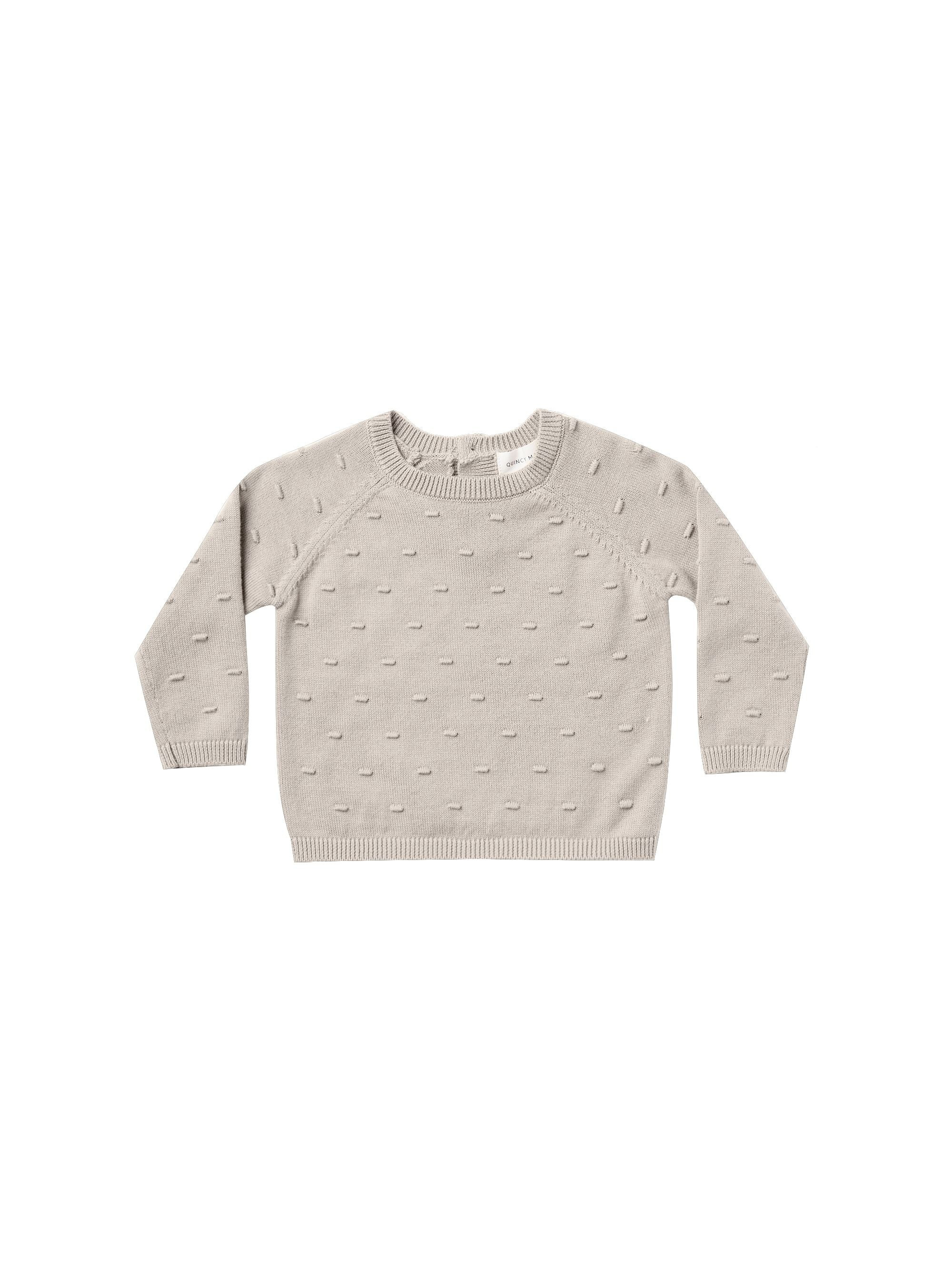Quincy Mae Organic Bailey Knit Sweater, Fog
