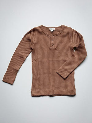 The Simple Folk The Ribbed Top, Cinnamon