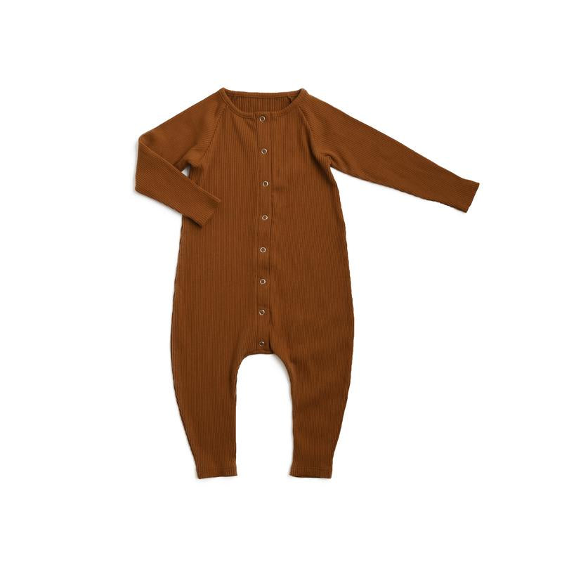 Little Urban Apparel Ribbed Romper, Russet