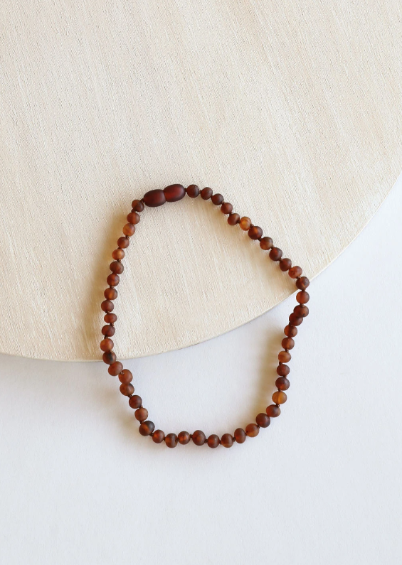 CanyonLeaf Kids Amber Necklace, Raw Cognac