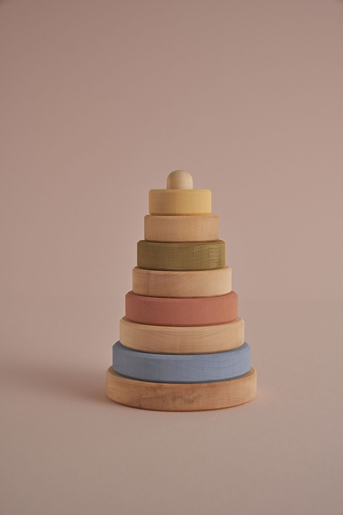 Raduga Grez Wooden Stacking Tower, Pastel + Natural