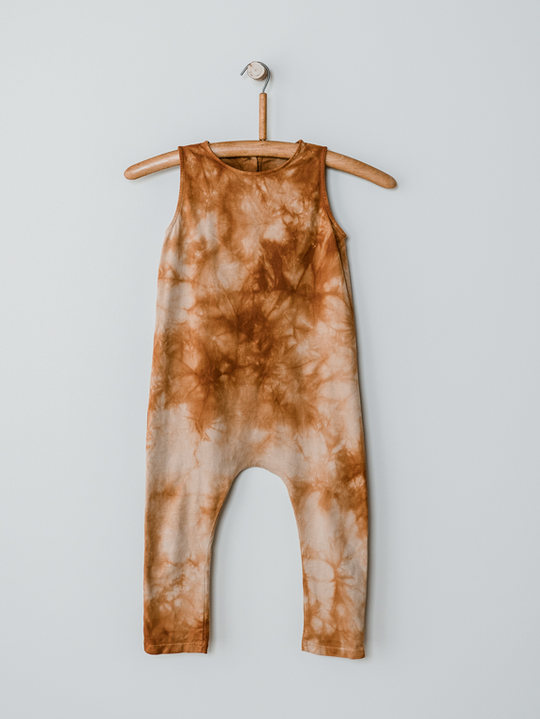 The Simple Folk Go to Playsuit, Terracotta tie-dye: