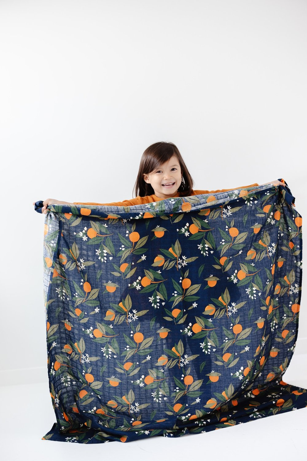 Clementine Kids Orange Blossoms Swaddle