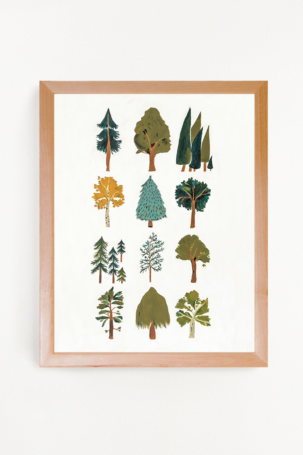 Clementine Kids, Forest Trees Art