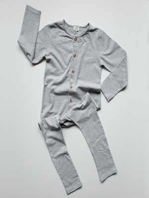 The Simple Folk Workman Playsuit, Gray Melange