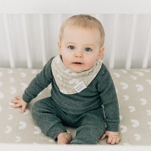 Mebie Baby Cotton Muslin Bib, Sand Rainbows