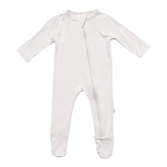 Kyte Baby Zippered Footie, Oat