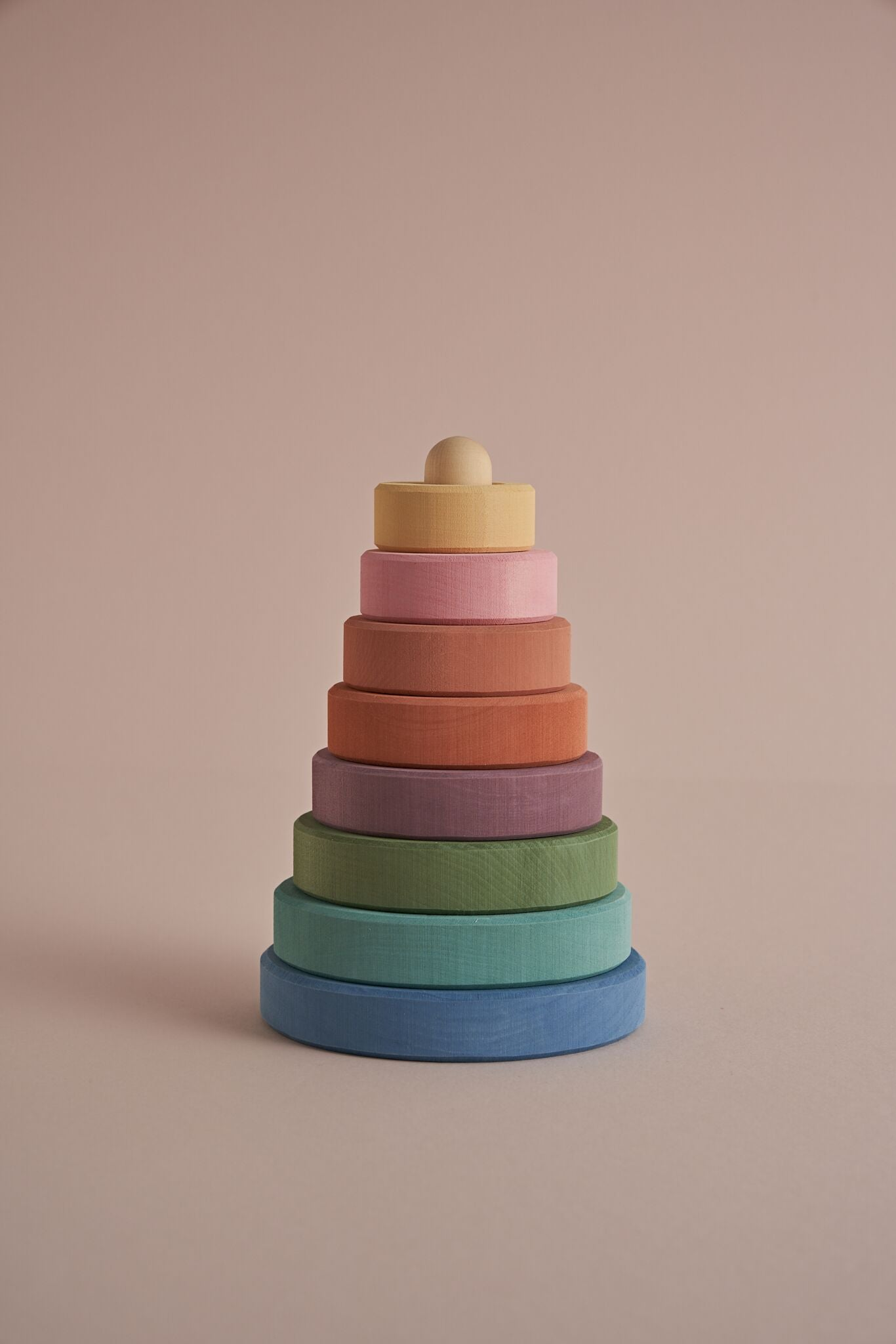 Raduga Grez Wooden Stacking Tower, Pastel