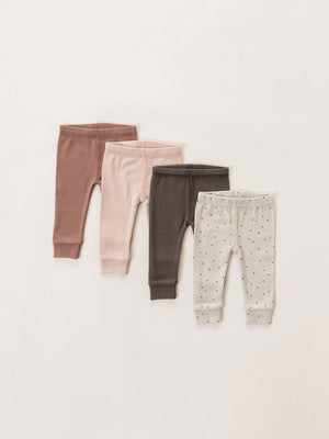Quincy Mae Organic Ribbed Legging, Clay