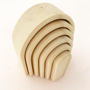Raduga Grez Wooden Stacker, Natural Oval Rainbow