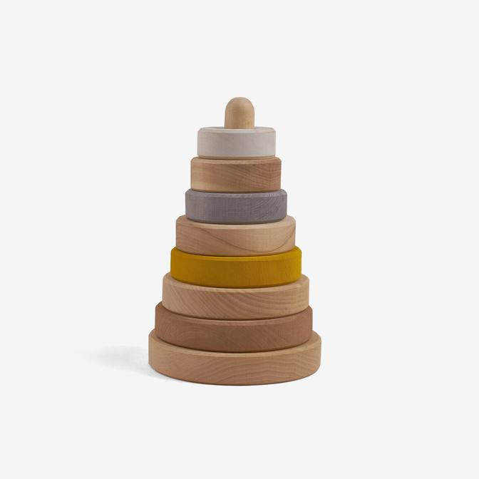 Raduga Grez Wooden Stacking Tower, Sand