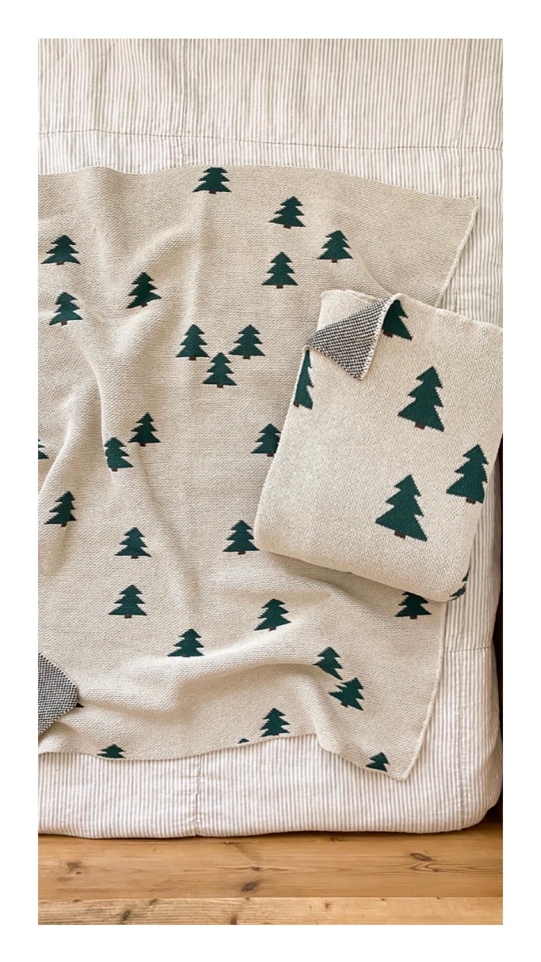 Fin & Vince Knit Blanket, Pine Tree