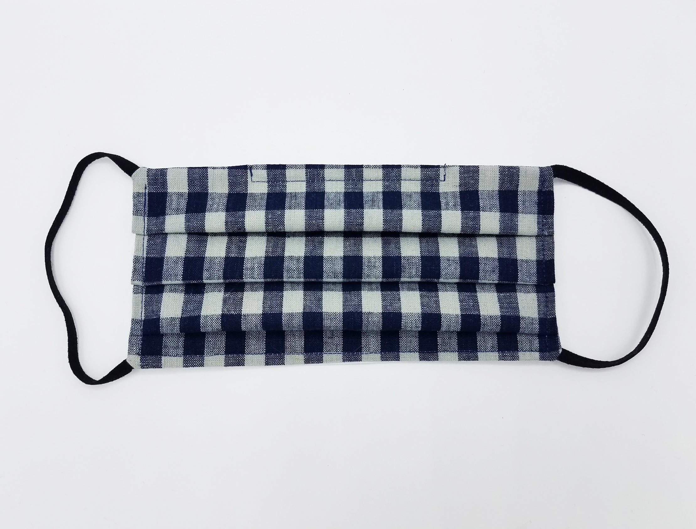 INDIGO CHECK MASK