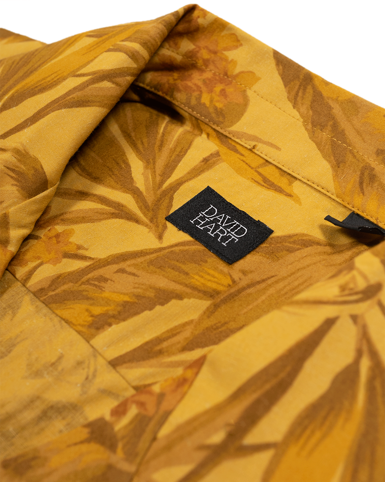 mustard tropical camp shirt