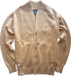 camel button front cardigan jacket
