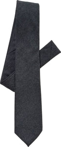 charcoal flannel tie