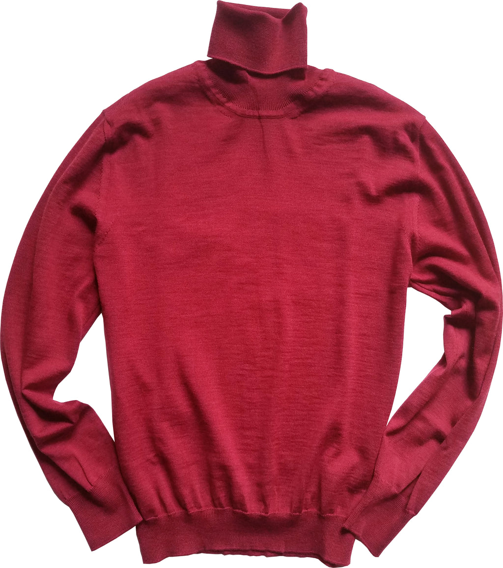 cranberry turtleneck