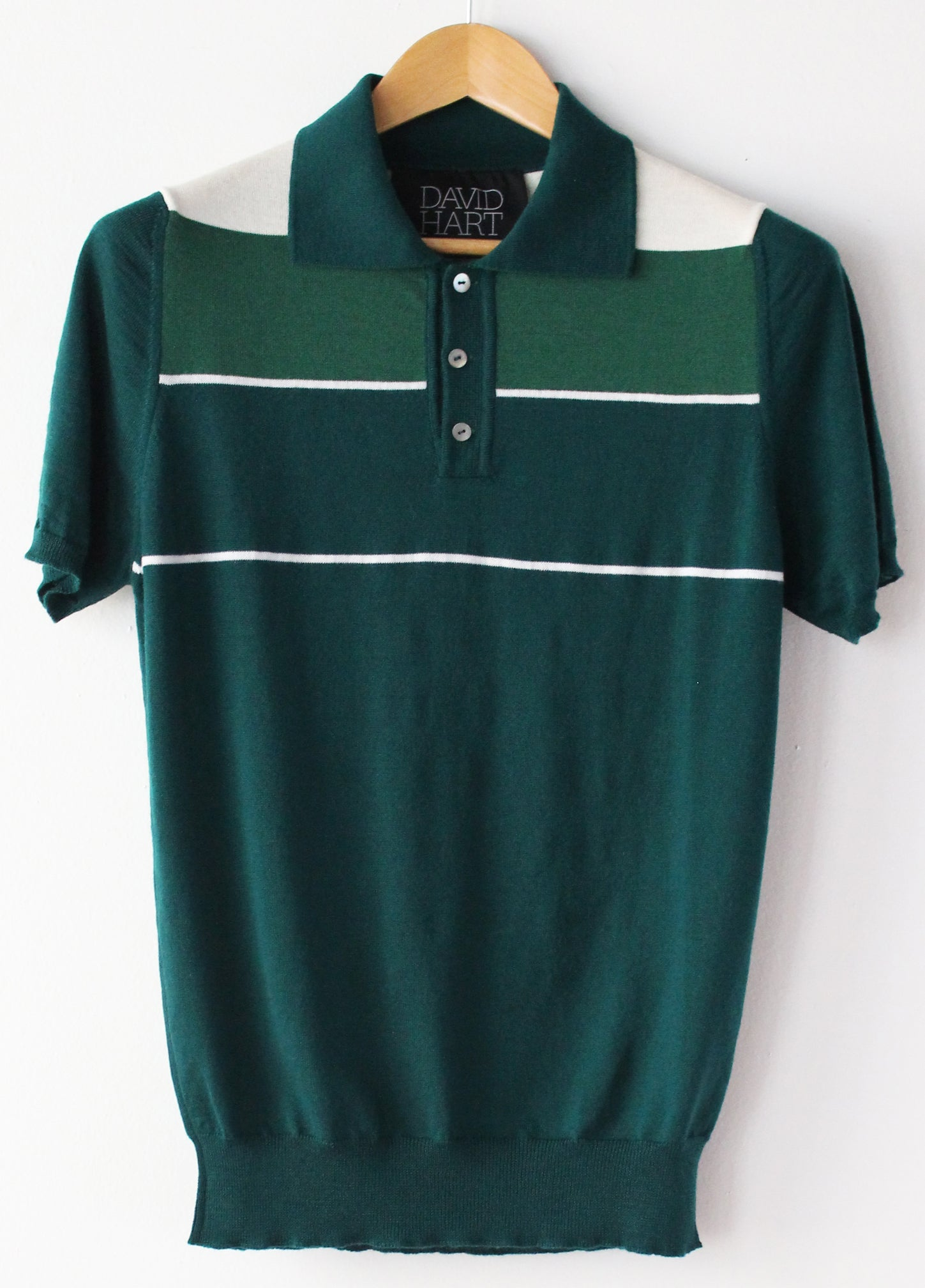 Green Colorblock Polo
