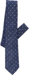 navy pin dot tie