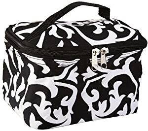 Black Damask Airbrush Makeup Bag