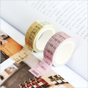 Down to the Hour & Day Washi Tape