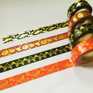Various Gold Foil Halloween Washis