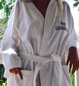 Luxurious Leucadia Red Bath Robe