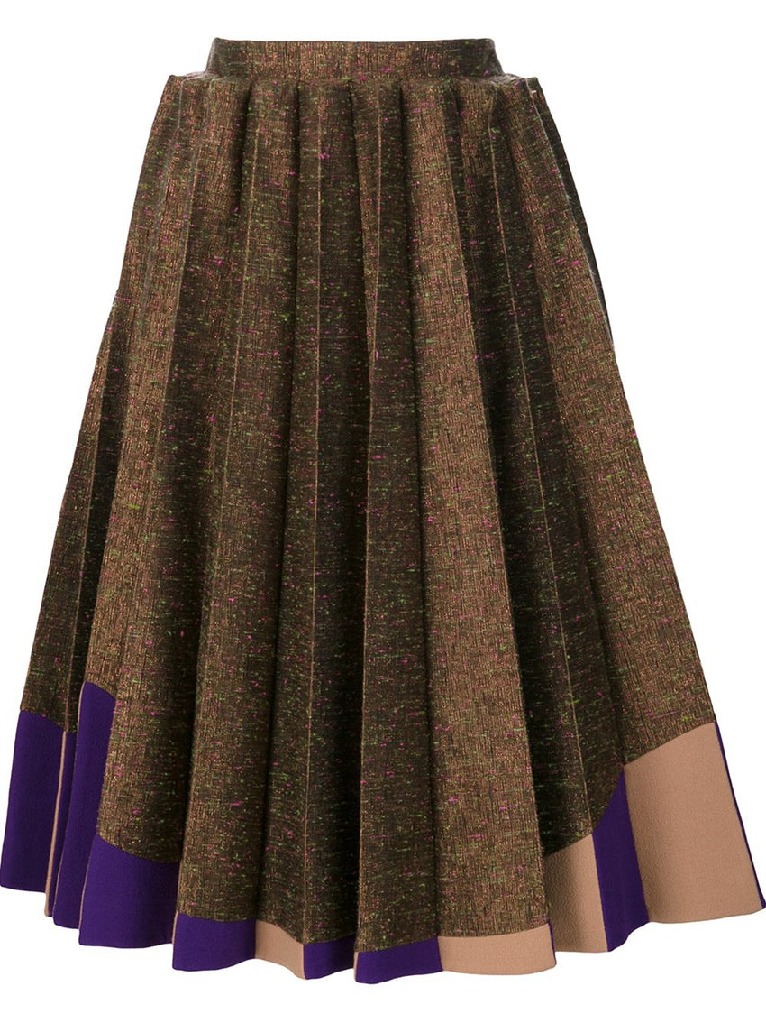 Pleated Collage Skirt
