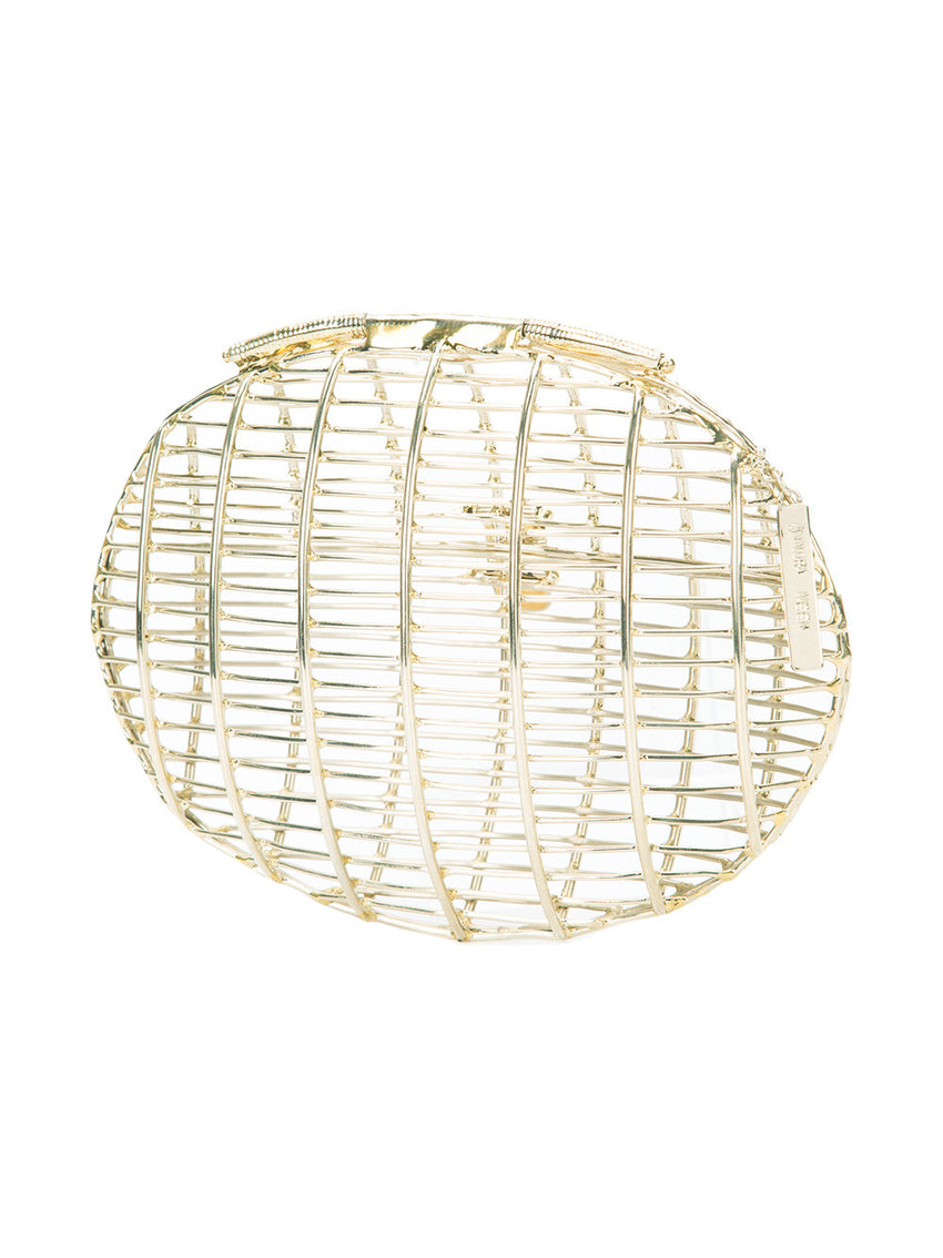Oval Orbit Cage Clutch
