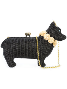 Dog Straw Clutch