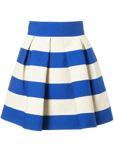Delpozo Bicolor Skirt w/Pleats