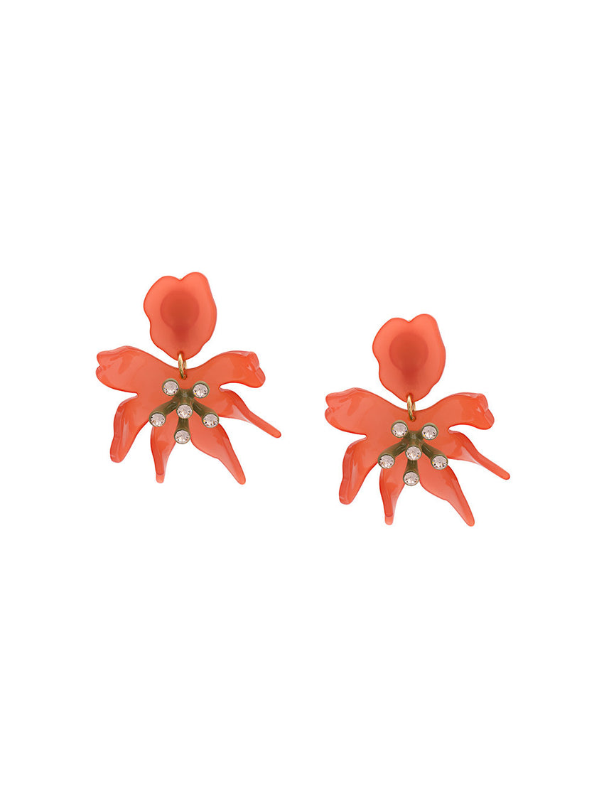 Lipstick Pink Daffodil Earrings