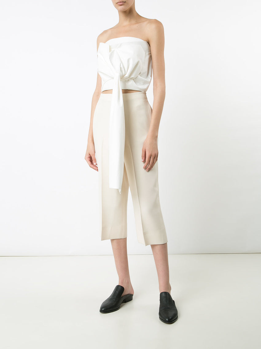White Delpozo Draped Top