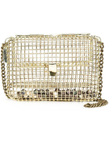 Cage Bag with Pearls