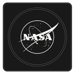 "Modern Coaster - Black - NASA ""Meatball"" Logo"