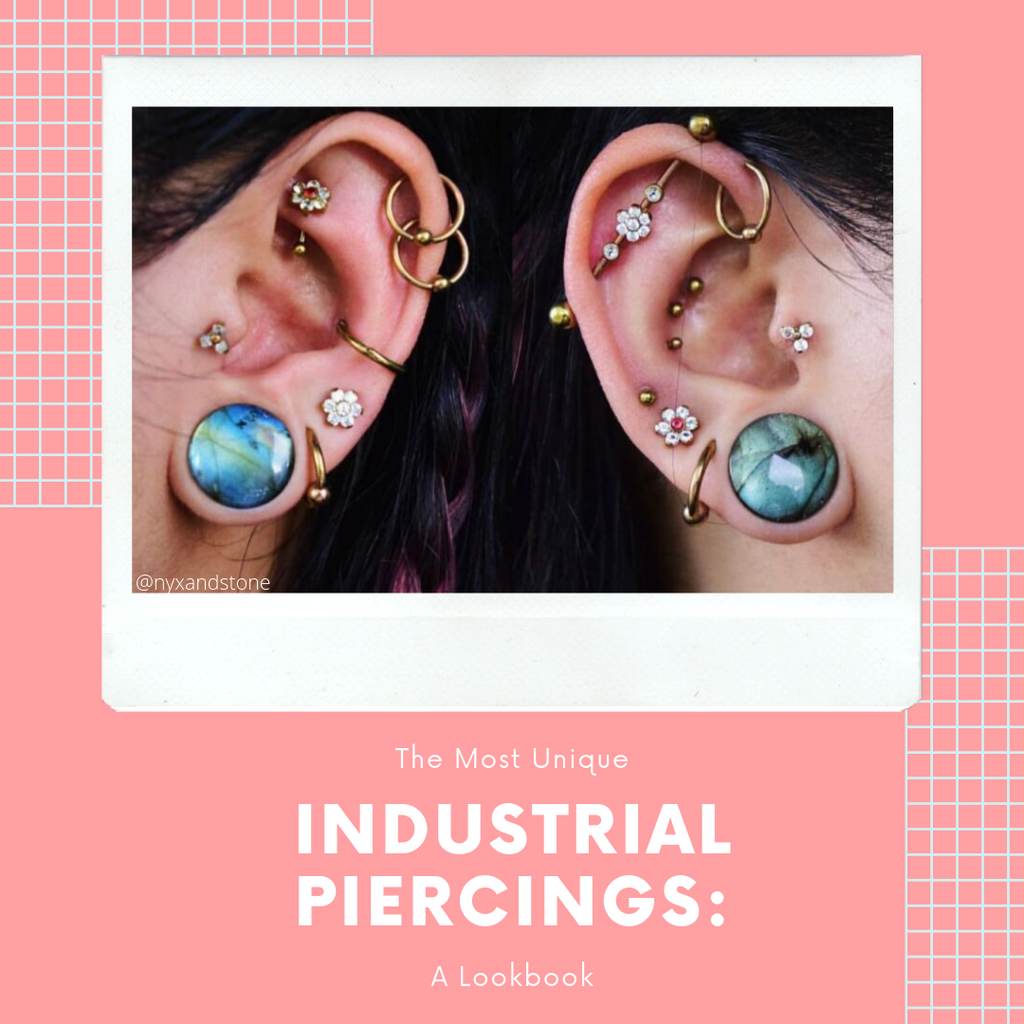 The Most Unique Industrial Piercings : A Lookbook