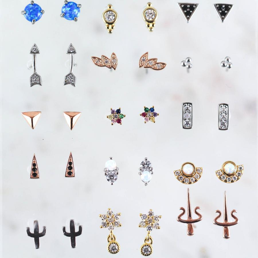 Push Back Stud Earrings Women's Earrings Hypoallergenic Earrings
