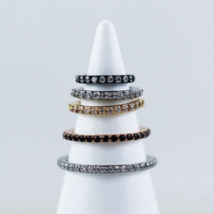 Crystal Paved Hinged Seam Ring Gift Guide Holiday Gift Ideas