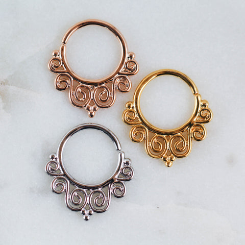 Unique Septum Ring Septum Hoop Septum Jewelry Rose Gold Septum Ring Silver Septum Ring