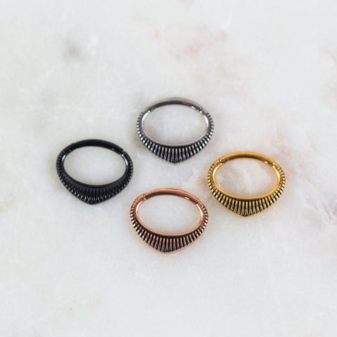 Amaya Clicker Striped Septum Ring Cute Septum Jewelry Septum Clicker